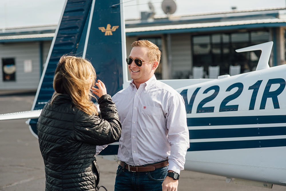 candid engagement and proposal photographer in fort worth texas, emotional proposal photographs, dallas proposal photographer, granbury airport proposal