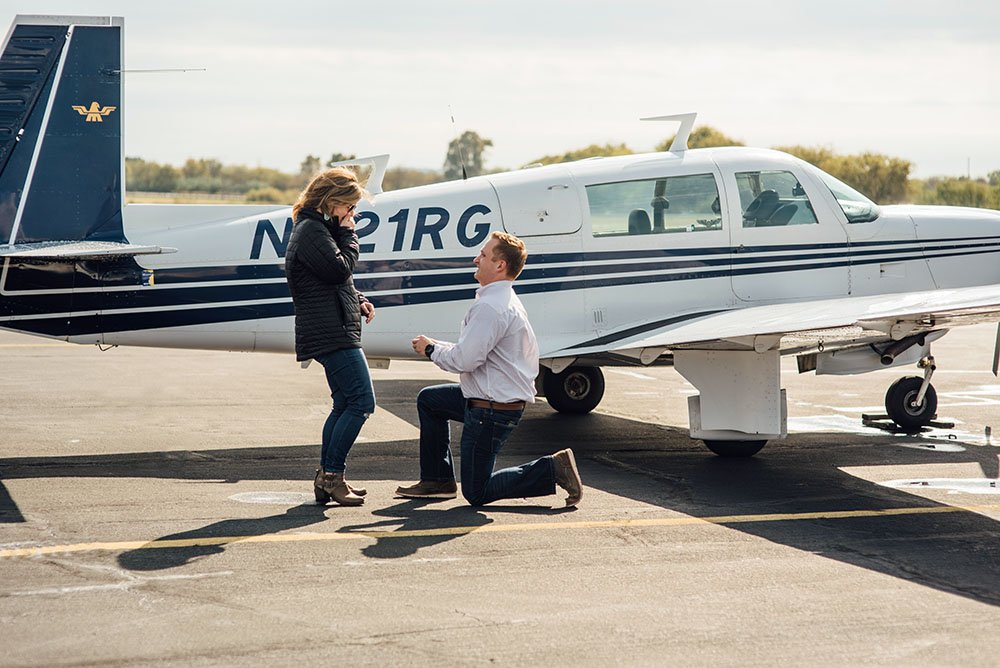 fort worth proposal photographer, granbury airport photos, airport proposal, fort worth proposal photographer