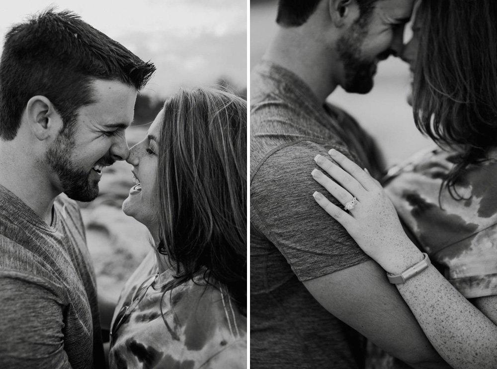 mckinney falls engagement session, austin couple photographer, creative engagement photographs, happy engaged couple
