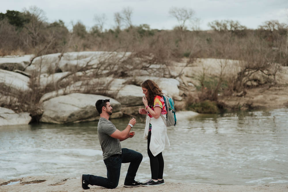 mckinney falls state park proposal, destination proposal photography in austin texas, where to propose in austin texas, natural locations for proposals in austin, central texas proposal photographer, austin proposal photographs