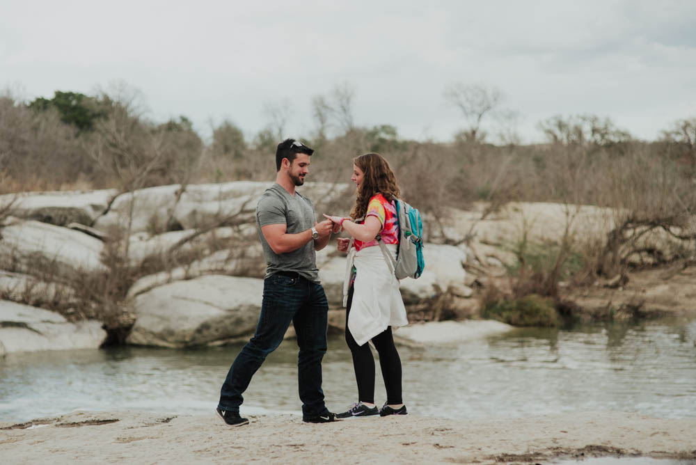 austin wedding photography proposal at a state park
