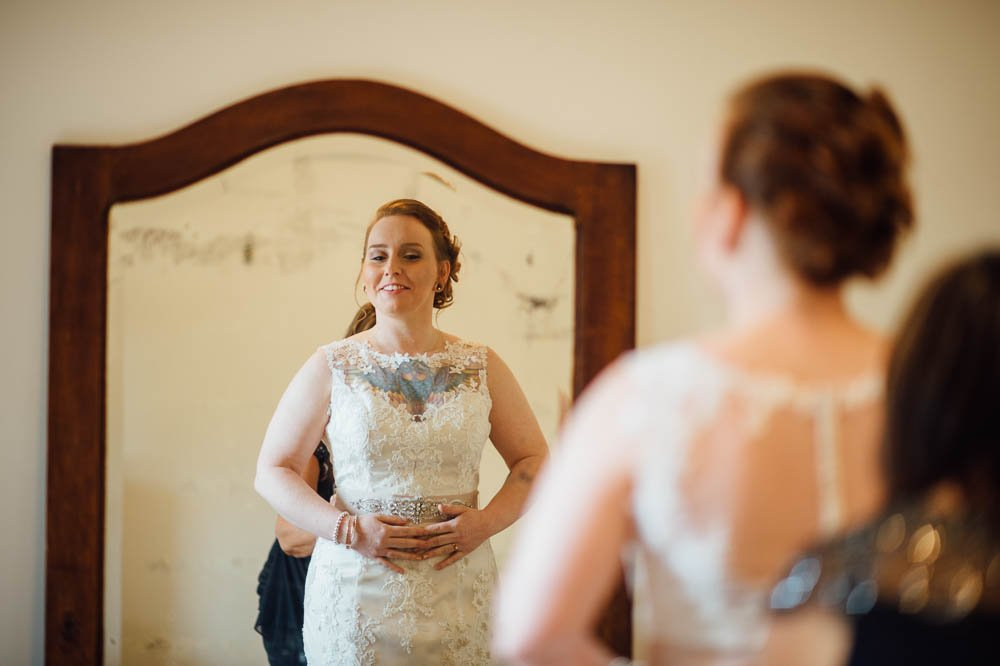 heritage house dripping springs wedding, winter wedding getting ready photographs