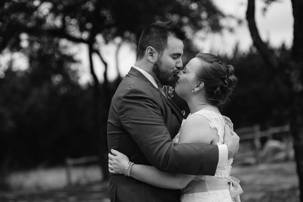 bride and groom portraits in black and white