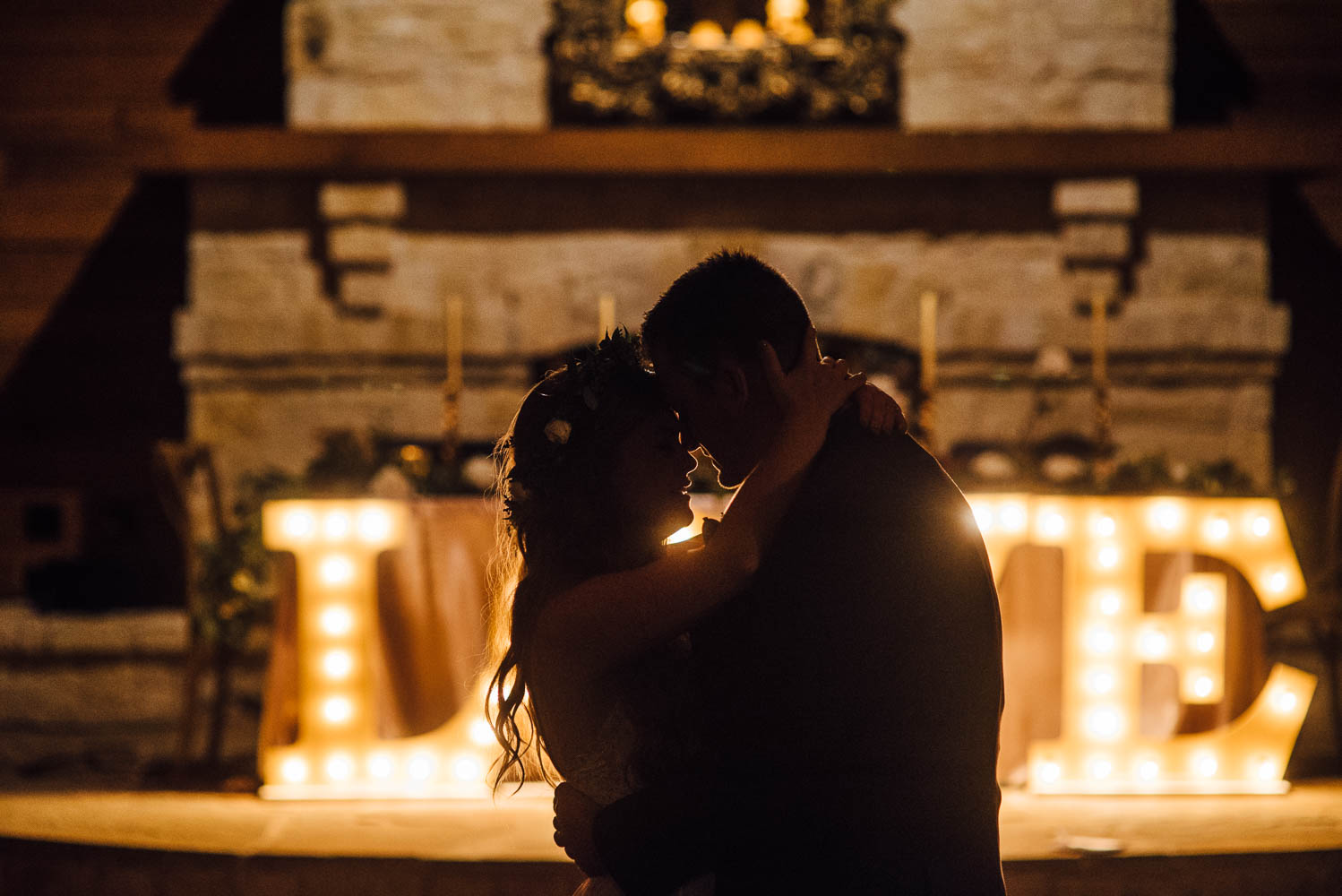 intimate sweethearts last private dance at a ranch wedding venue in fort worth
