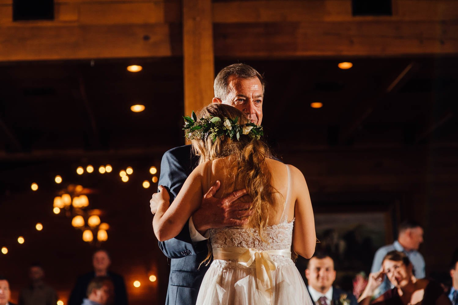 father daughter dance gets emotional inside the classic oaks ranch ballroom