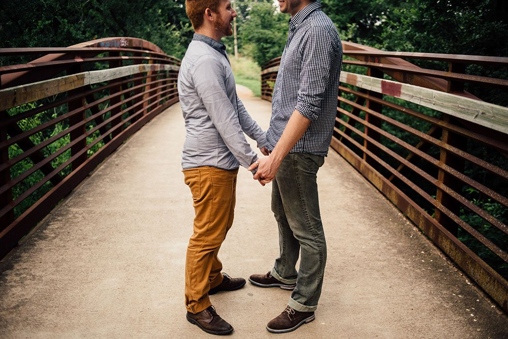 austin fall engagement session, lgbt engagement session, same sex portraits, same sex engagements, men's fall fashion for engagement photos in austin