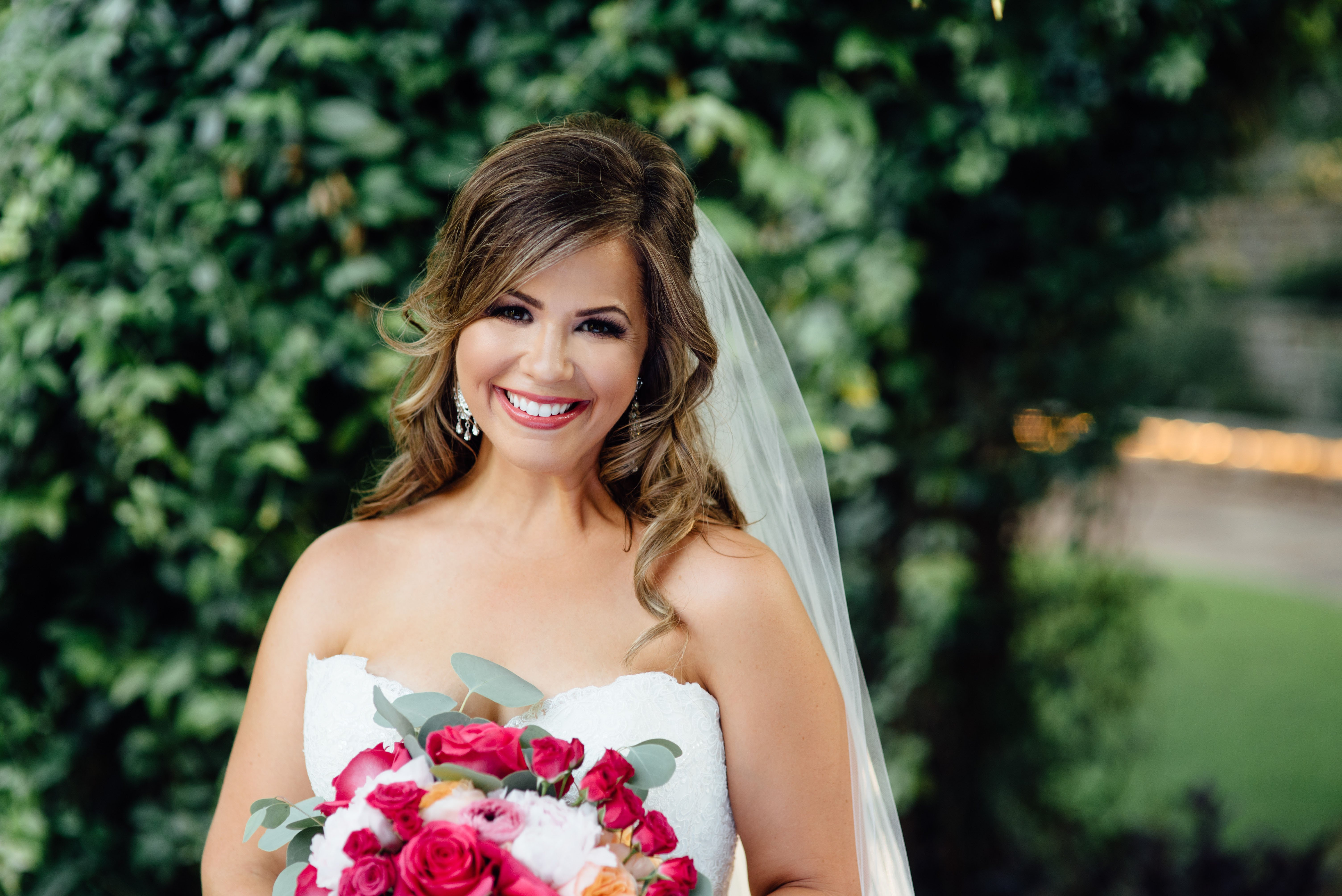 fort worth botanical garden bridal portraits