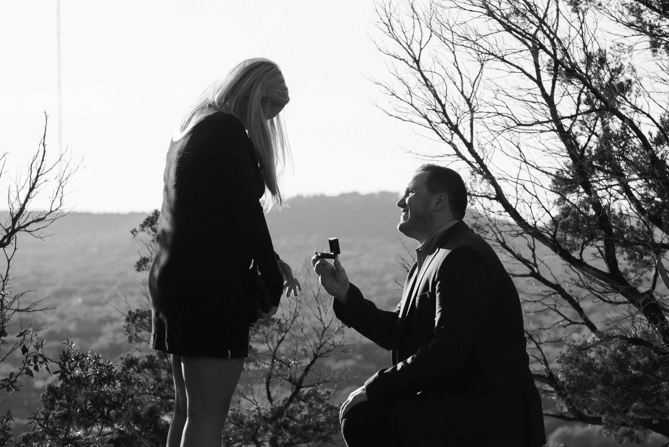 mt. bonnell proposal photographs austin