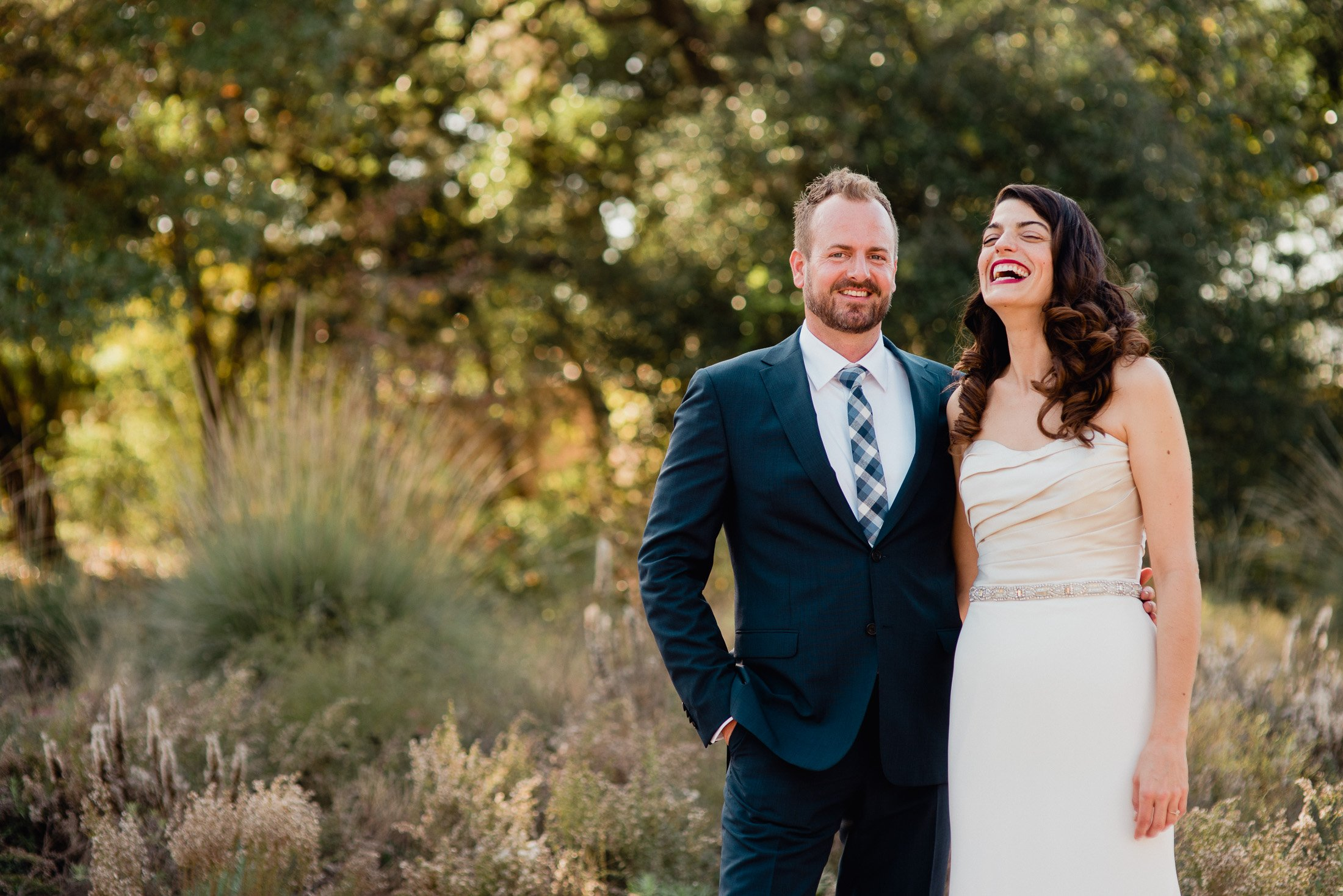 candid and real wedding photography at the austin wildflower center