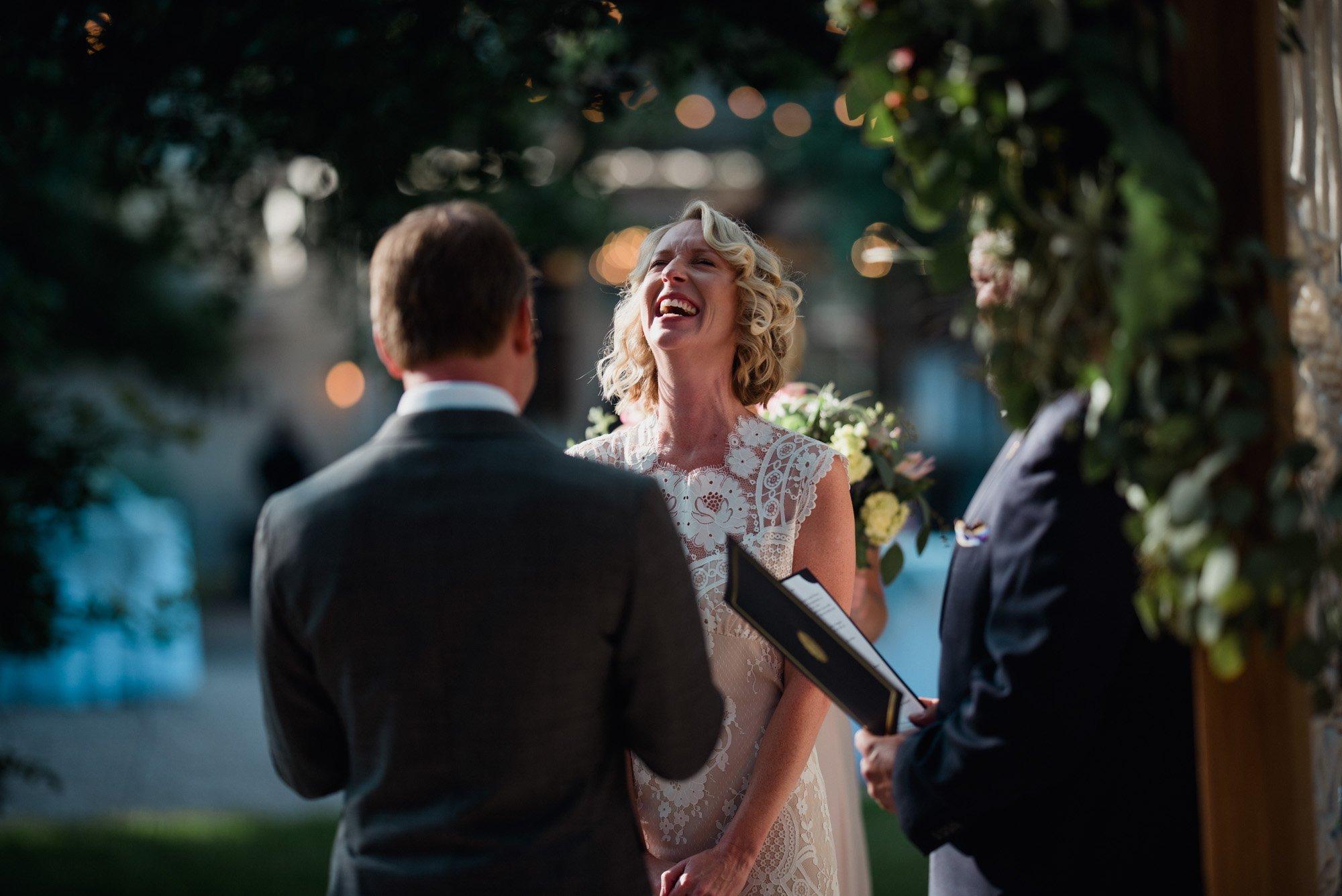 Mercury hall wedding ceremony photographs outdoors