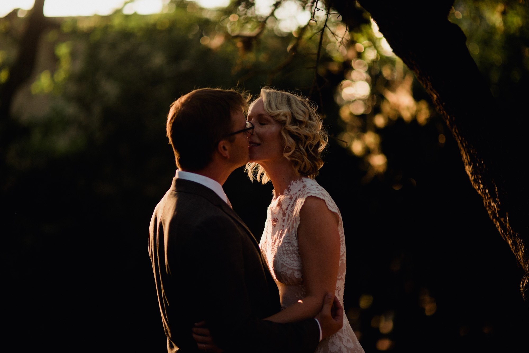 sunset portraits outside at an austin wedding at mercury hall