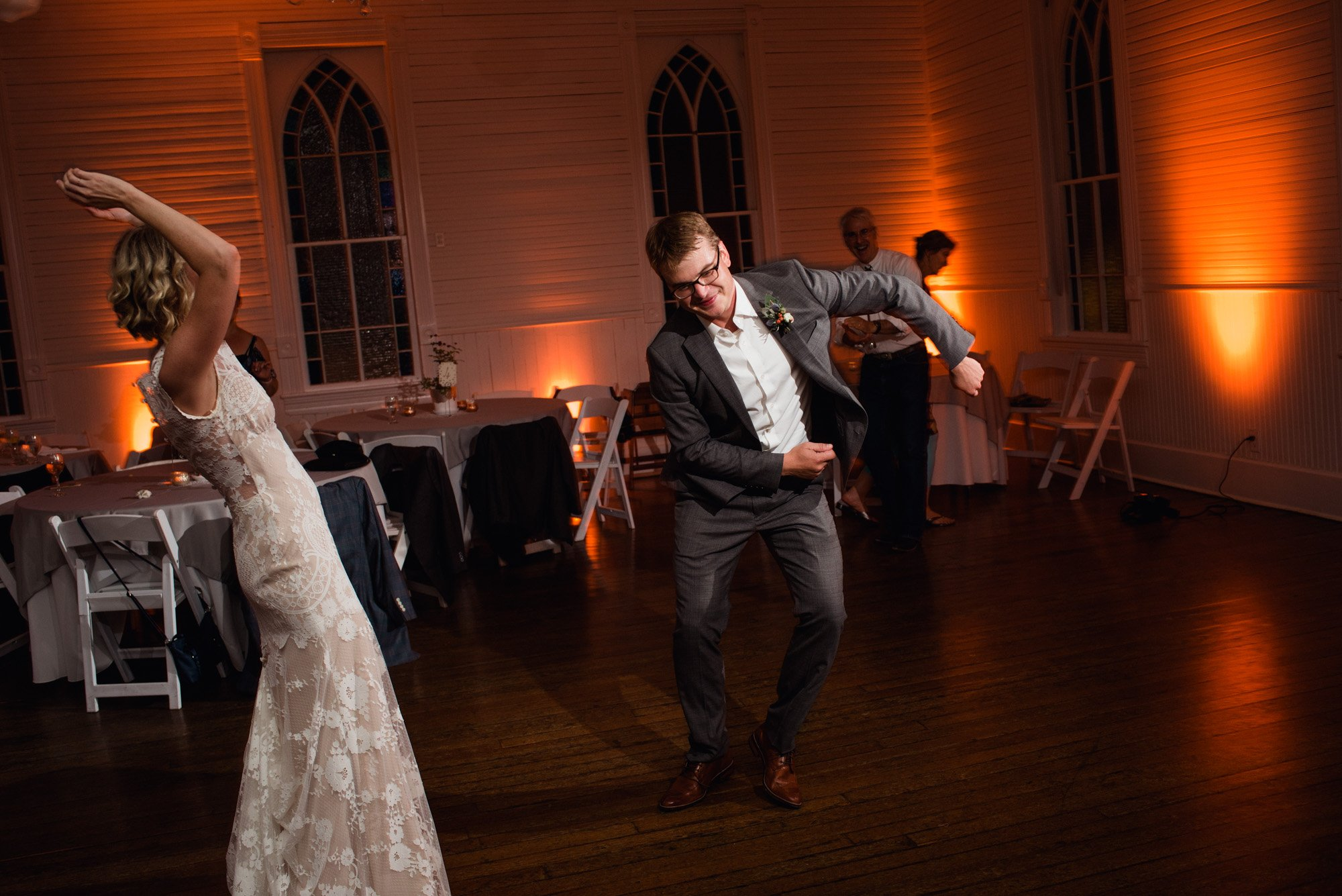 goofy dancing at a mercury hall wedding