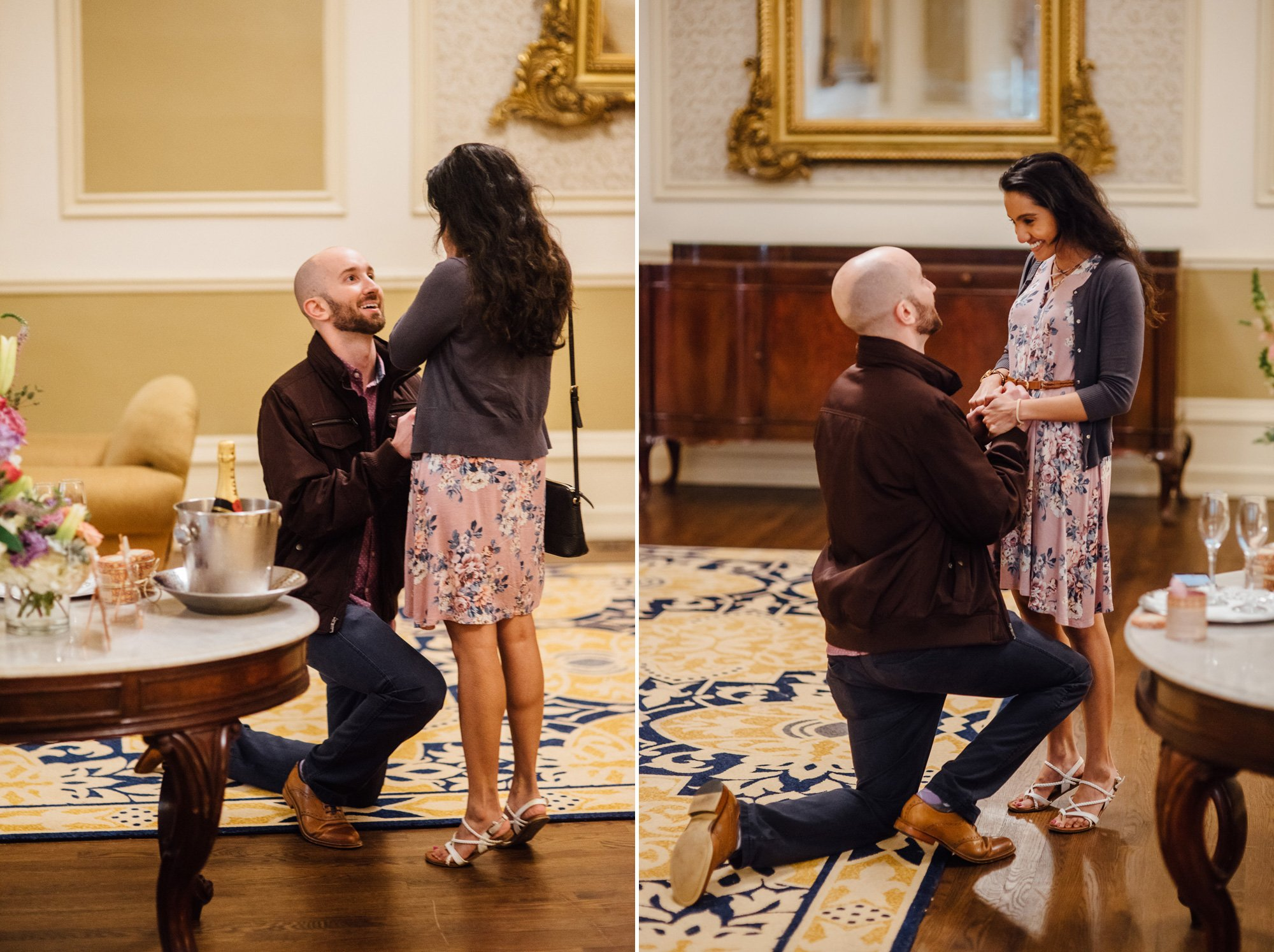 driskill hotel proposal, austin surprise proposal, austin proposal photographer, austin proposal photography