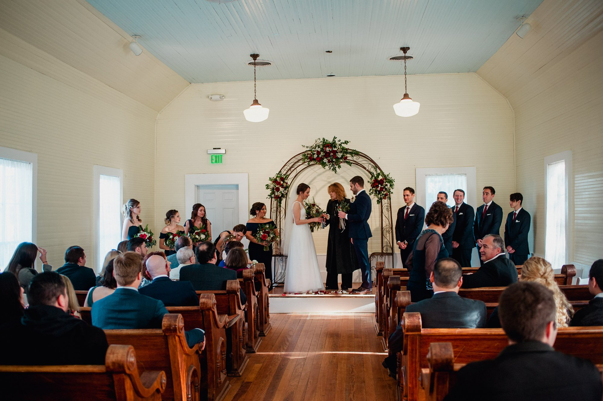 intimate indoor winter wedding in austin