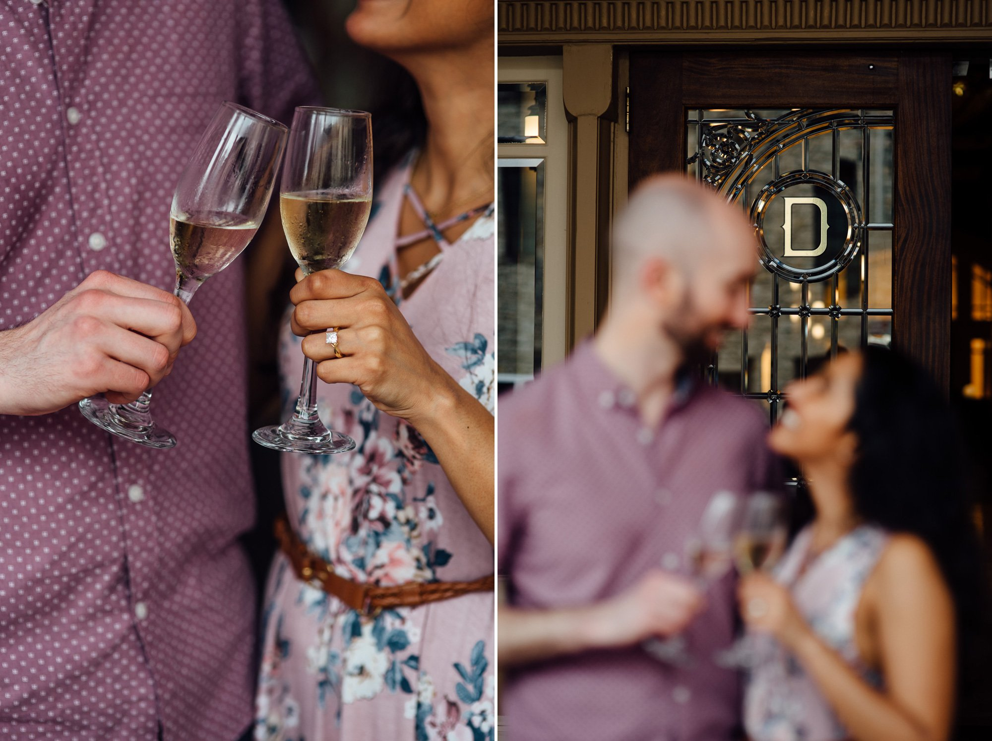 driskill hotel engagement photos outside