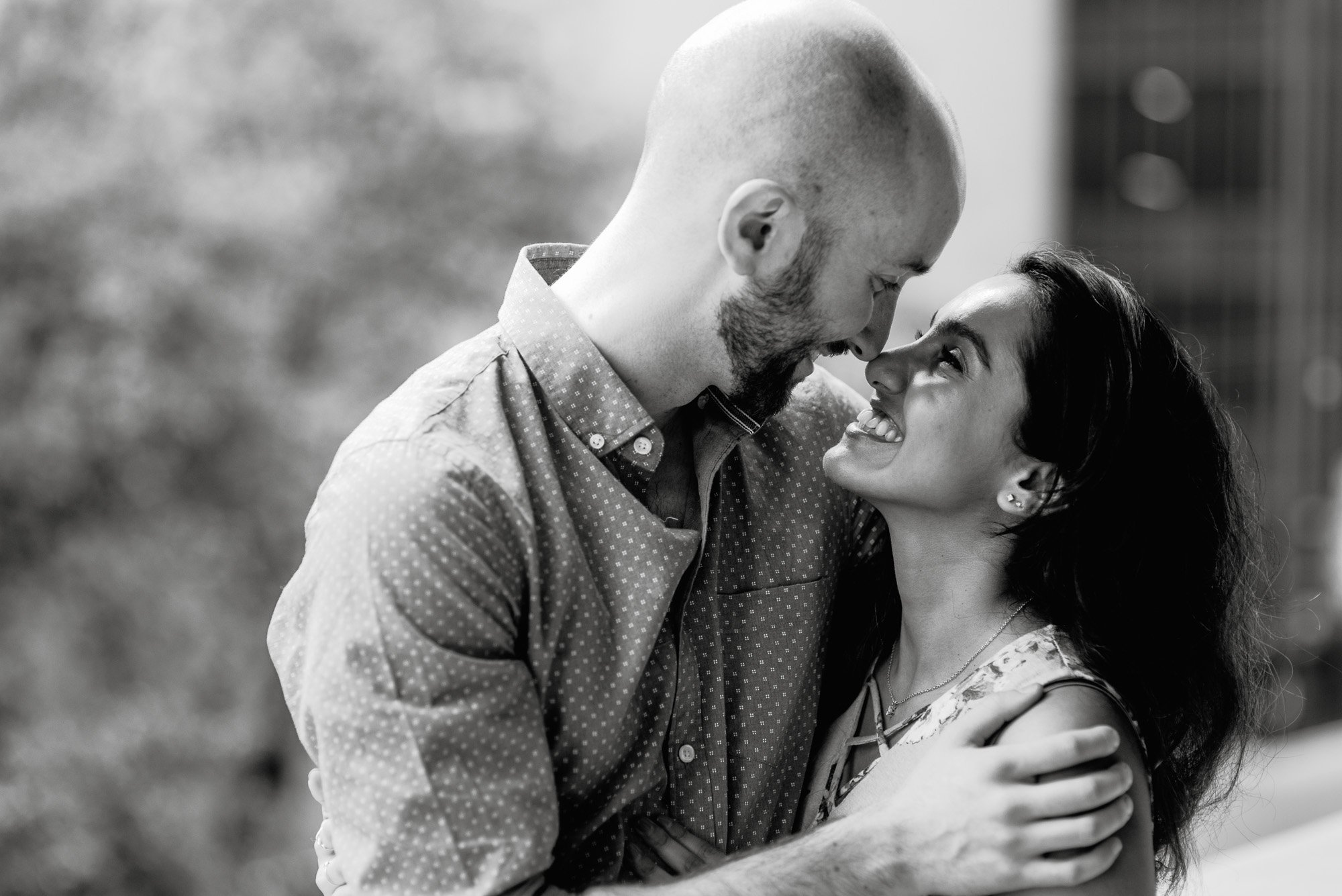 candid black and white engagement photography in austin, austin surprise proposal photographer