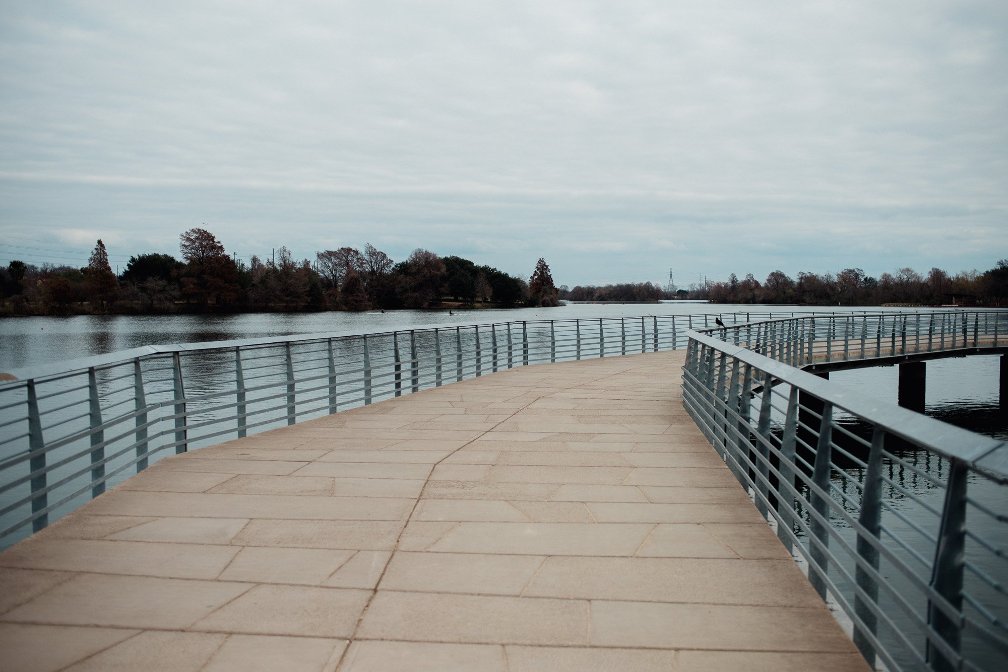 newest section of the town lake boardwalk in austin