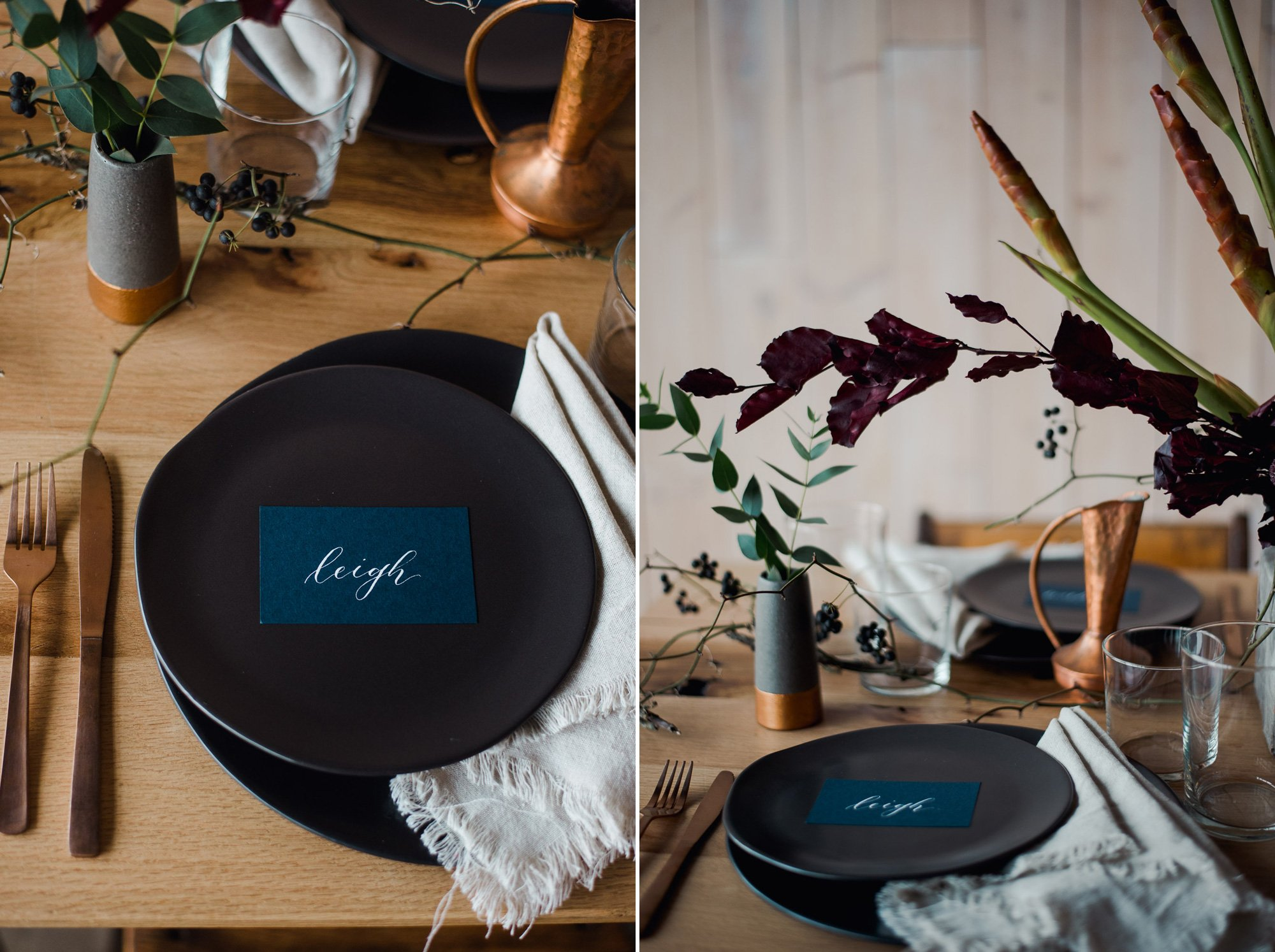 peached social house styled shoot, blue and purple styled shoot, modern wedding style, austin wedding photographer for modern couples