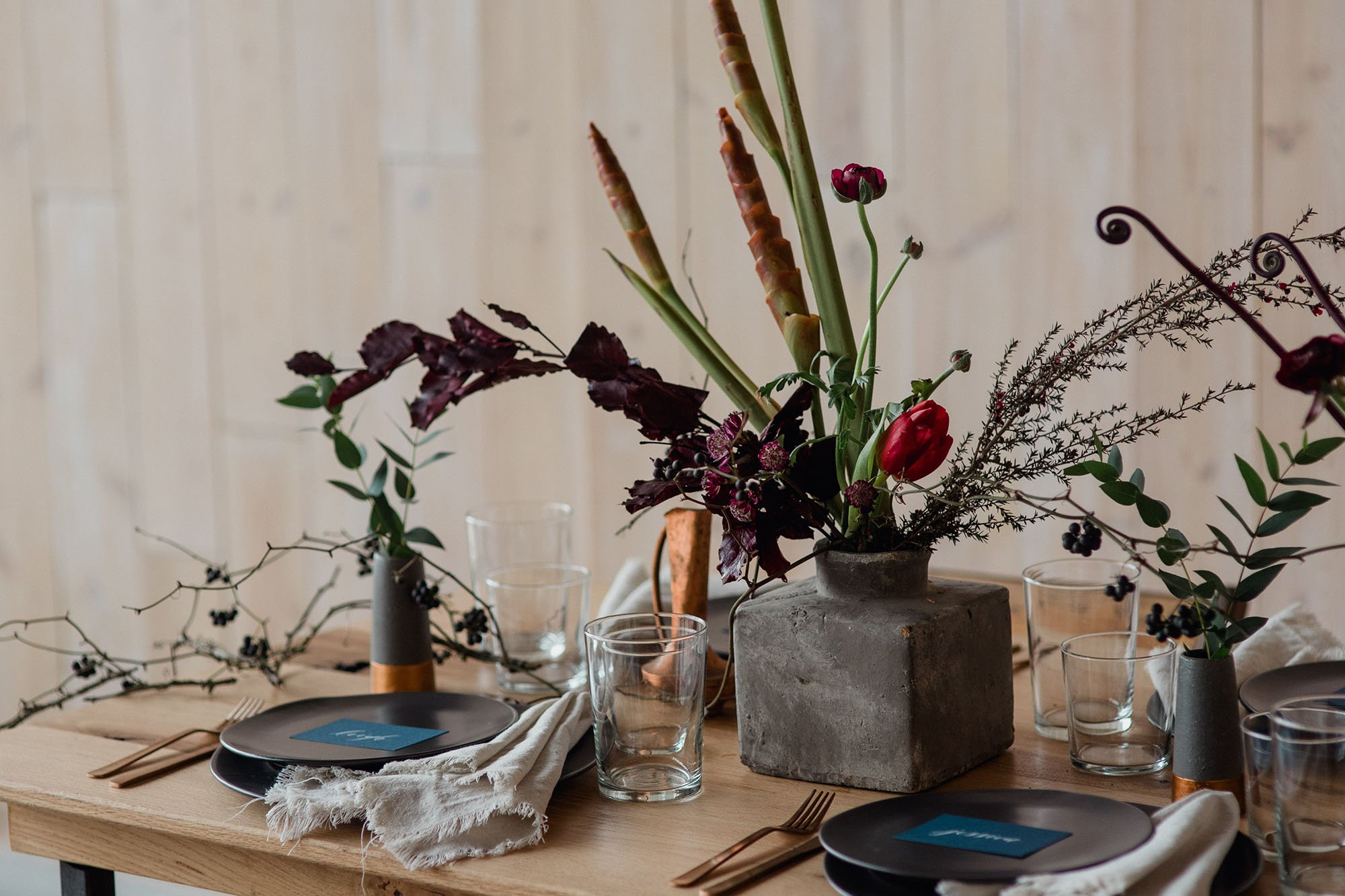 concrete wedding details for an austin urban wedding, peached social house wedding photographs