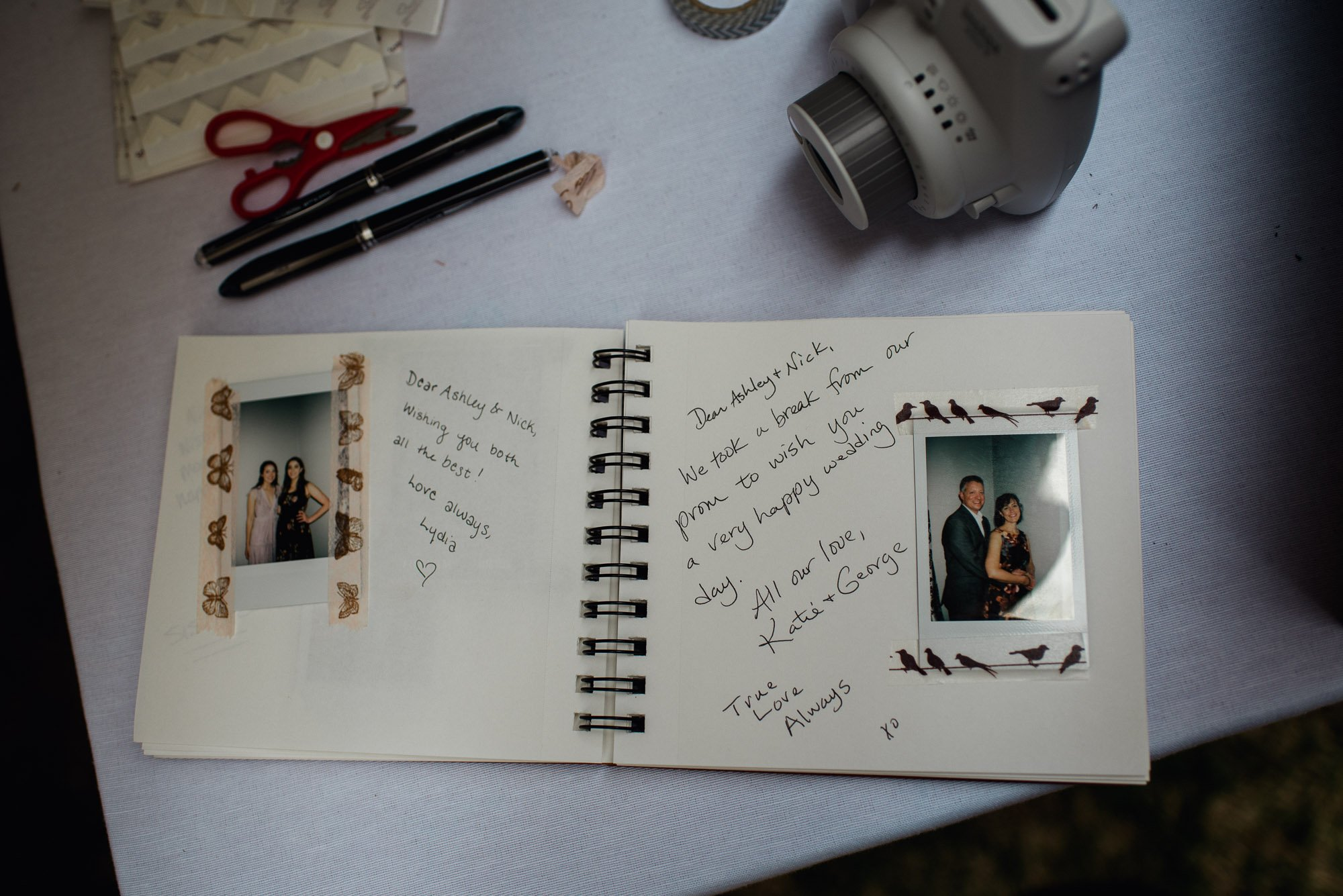 creative guestbook ideas with instant film