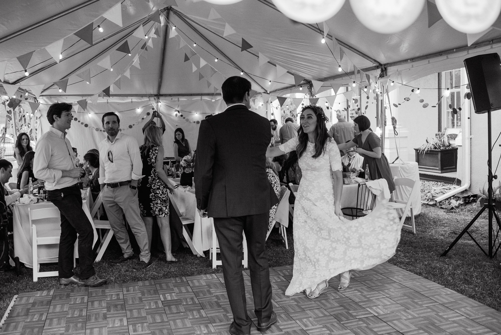 black and white photographs first dance under a tent in san antonio texas