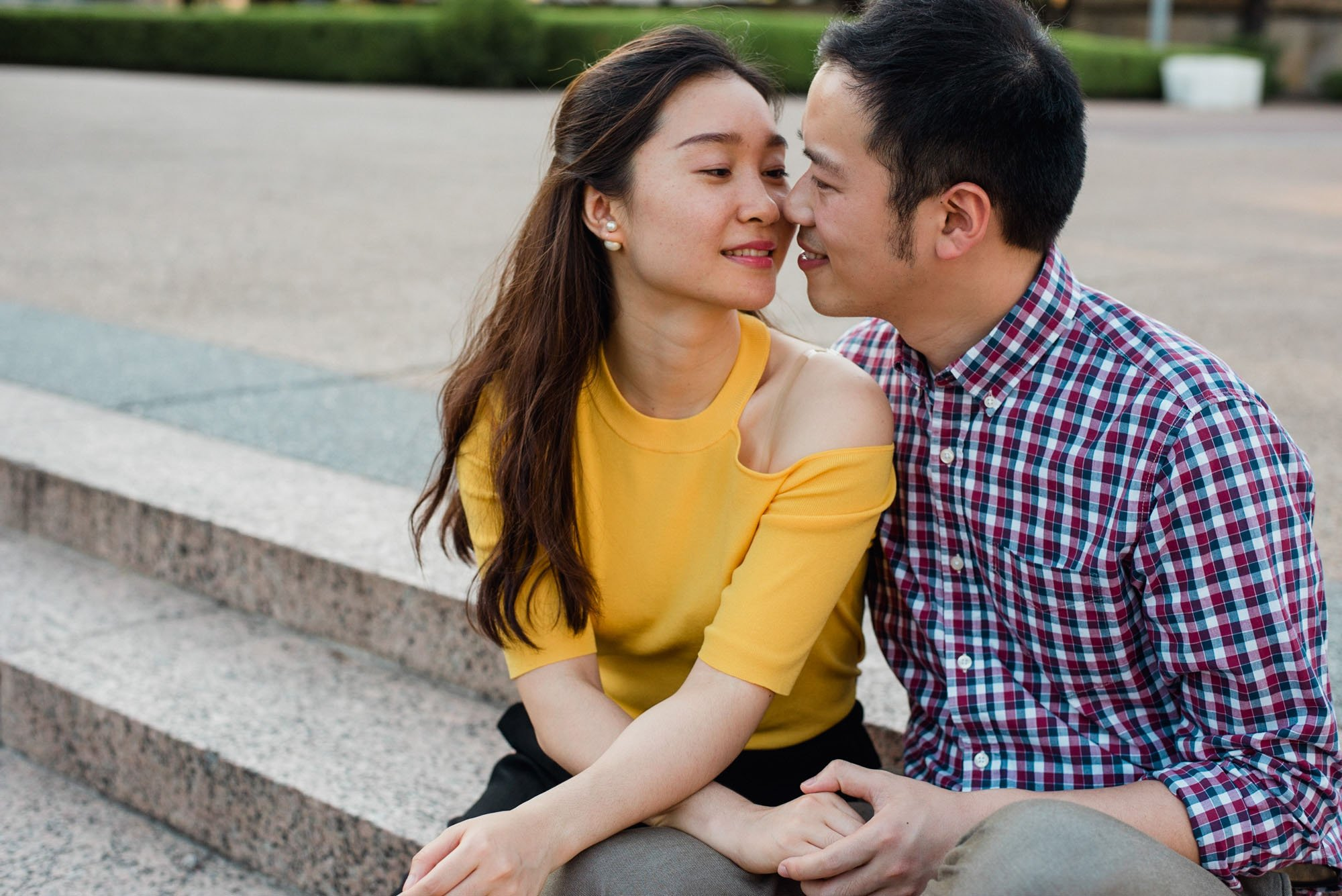 engagement photos on the campus of the University of Texas in austin