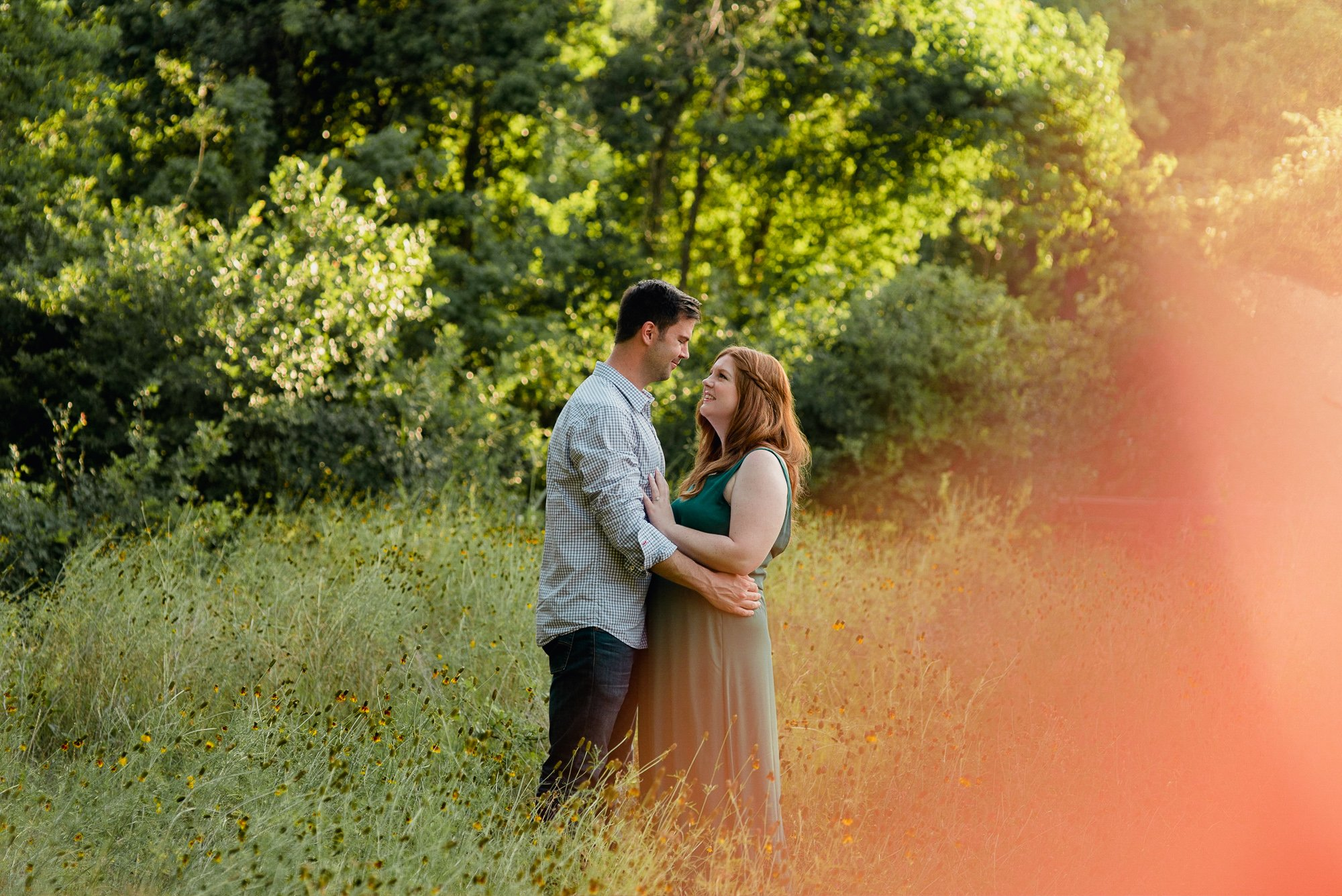 austin engagement session, brushy creek park engagement session, prism effect wedding portraits