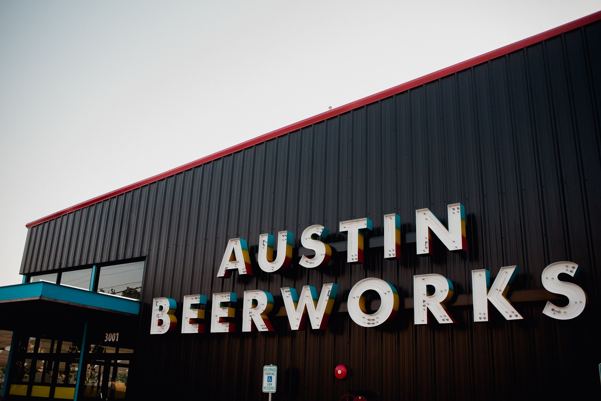 engagement session at austin beerworks, creative engagement session location ideas, brewery engagement session ideas