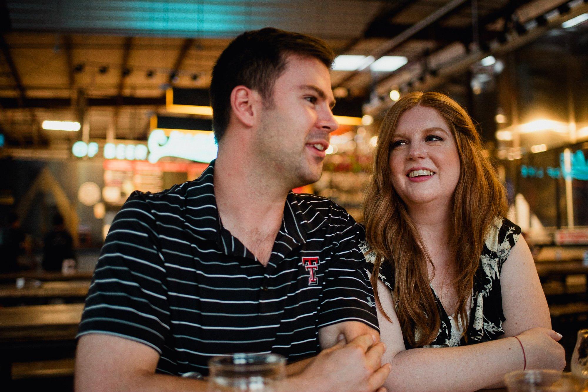 austin beer works engagement photos, austin brewery engagement photos, craft beer couple, candid engagement photos, couples session at a brewery in austin texas