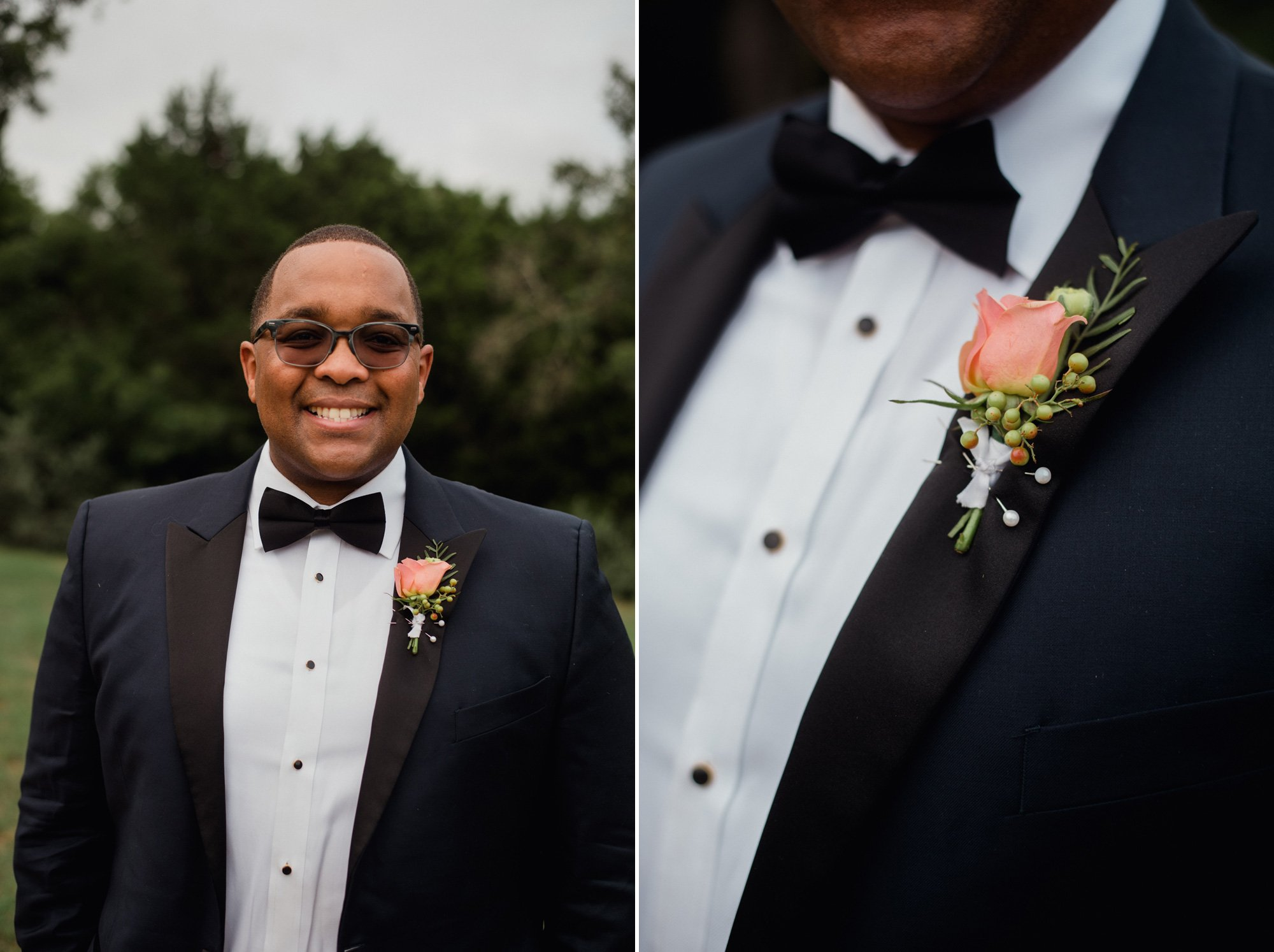 elopement at lake travis home