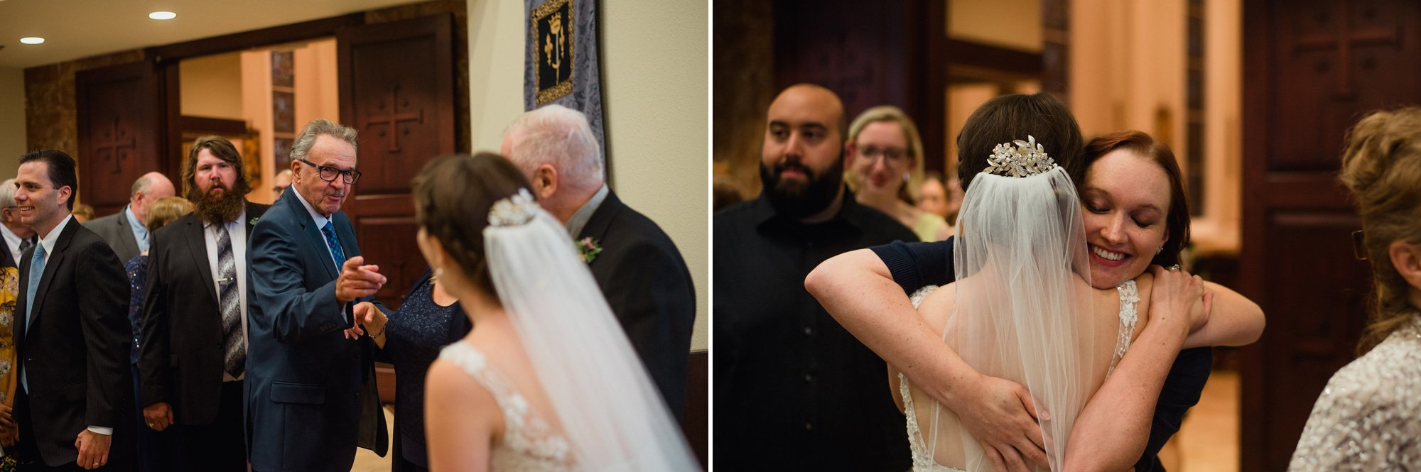 wedding ceremony reactions, st. louis king of france catholic wedding ceremony reaction photos, documentary wedding photography, emotional reaction wedding photography in austin