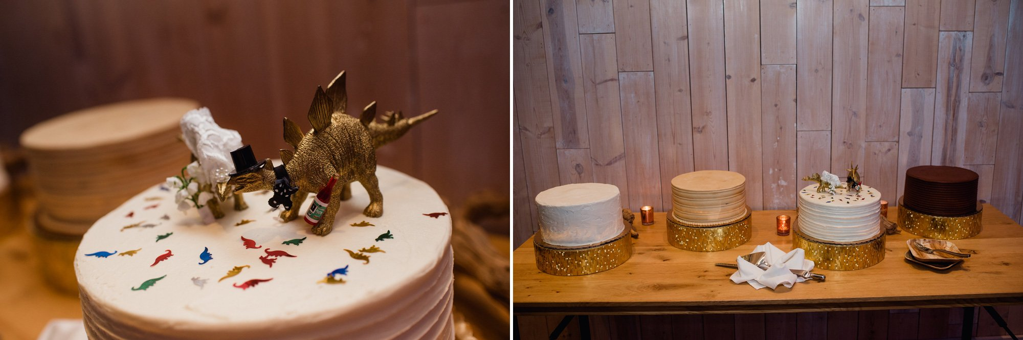 wedding cakes from sugar mama's at peached social house reception