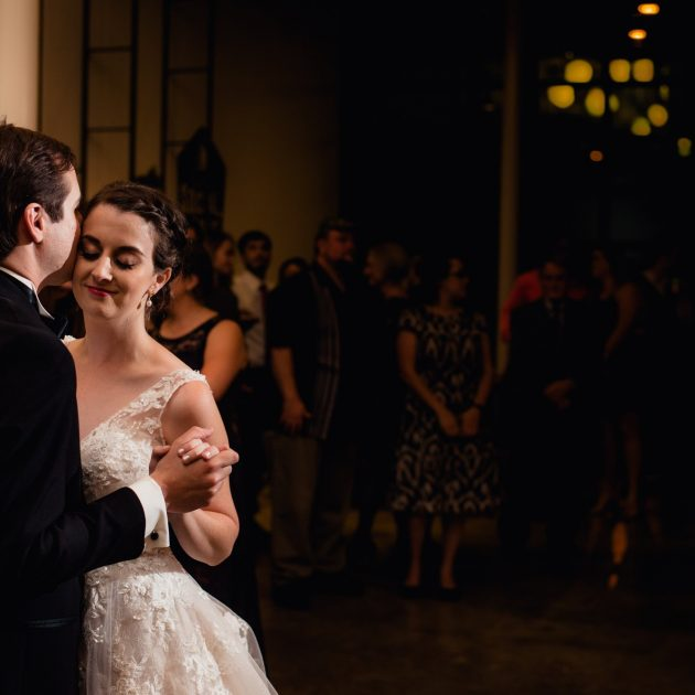 moody, dramatic first dance photos from a peached social house wedding