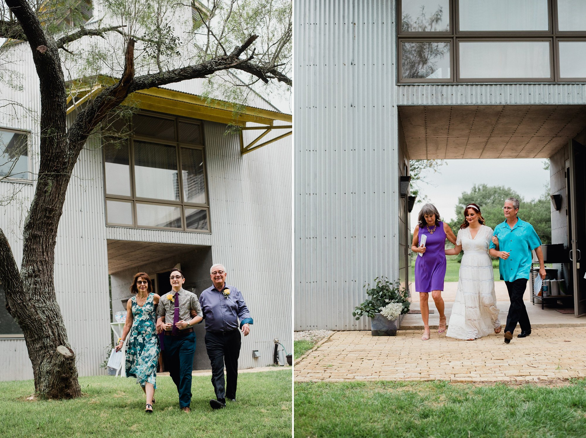 same sex wedding photographs at a backyard wedding in austin texas
