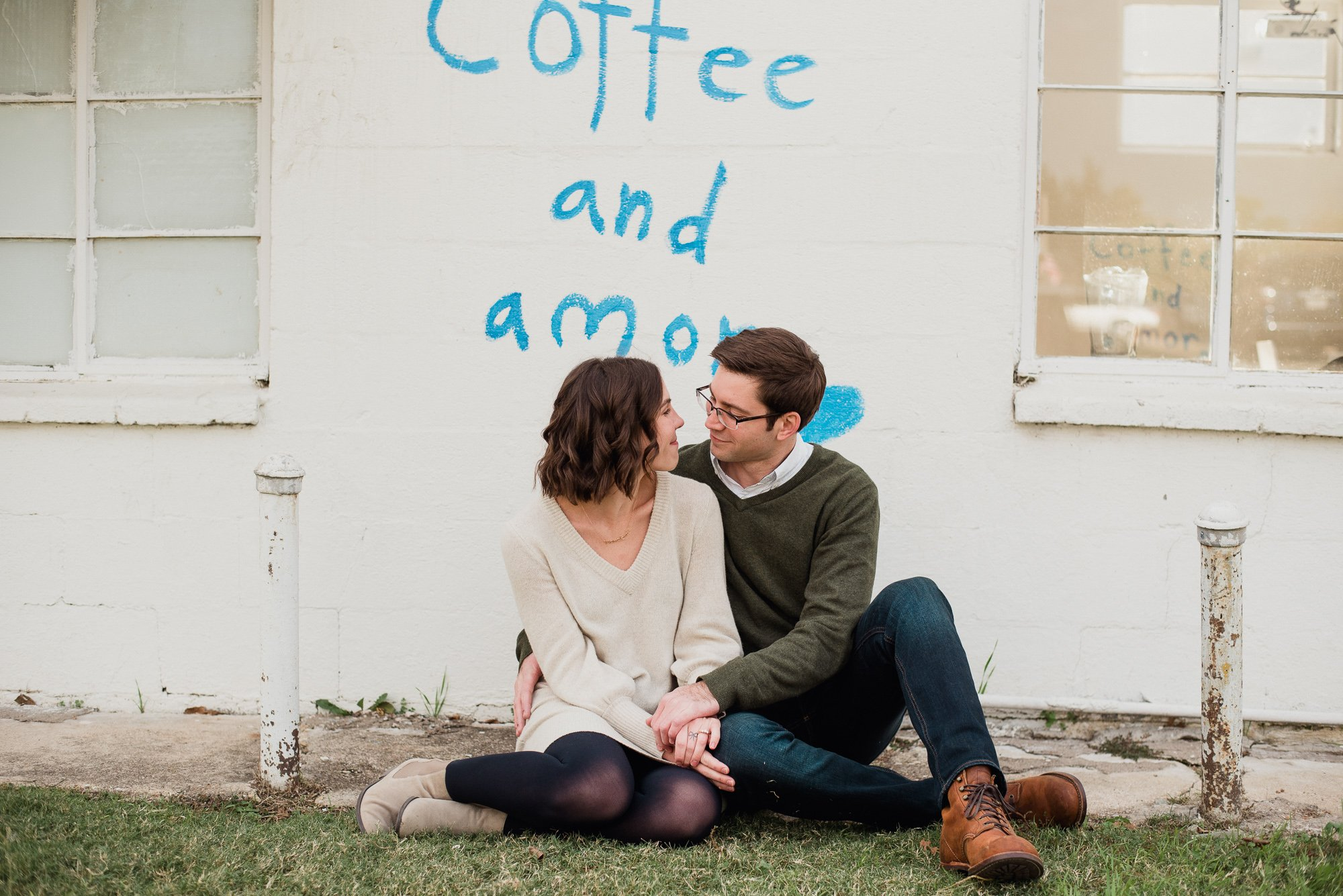cute downtown fort worth engagement session, magnolia ave engagement photos