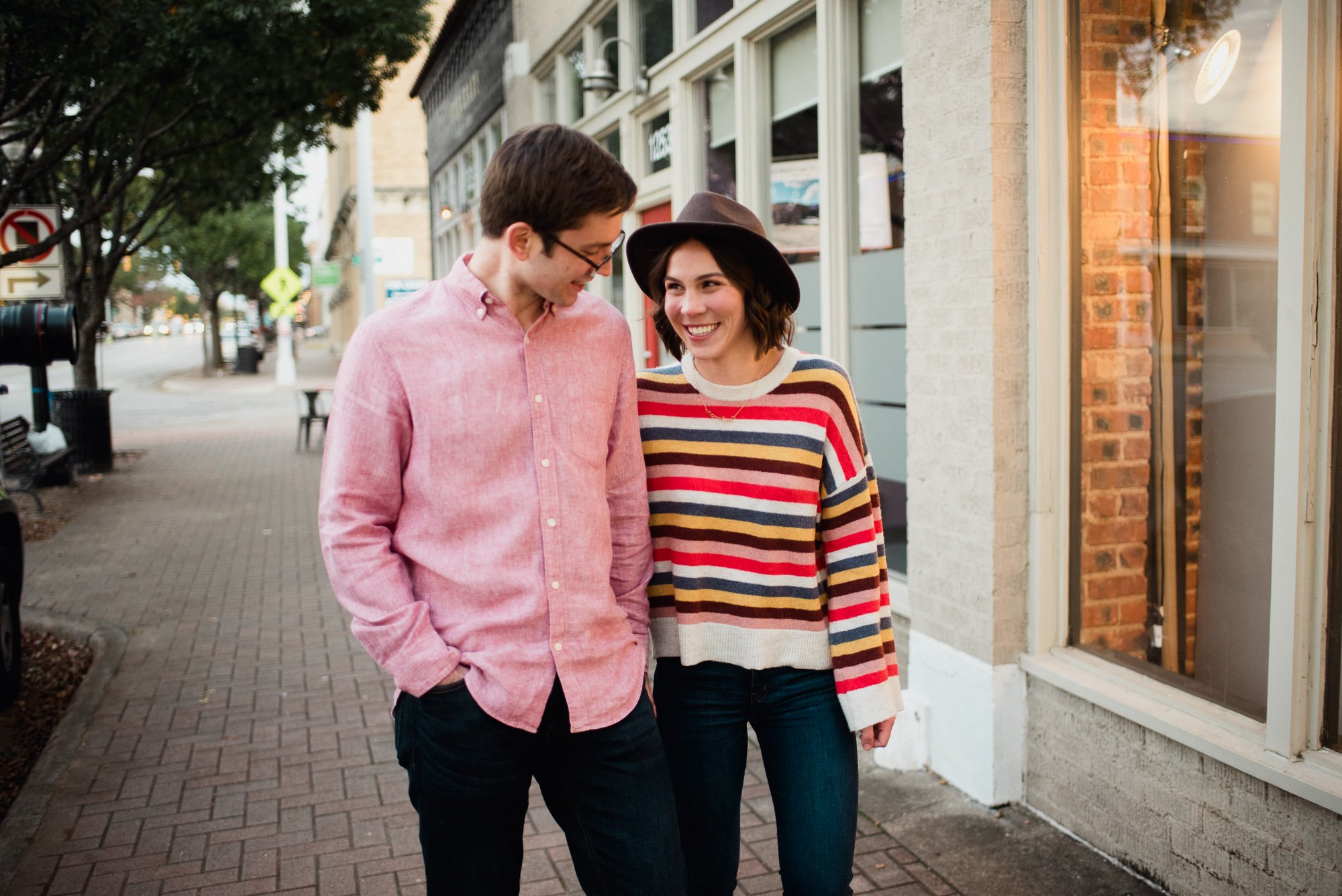downtown fort worth engagement session, colorful engagement photos in downtown fort worth, magnolia avenue engagment session, austin wedding photographer