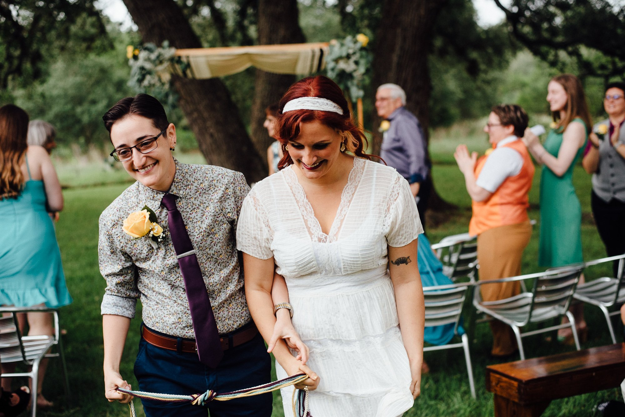 austin wedding photographer for non traditional couples