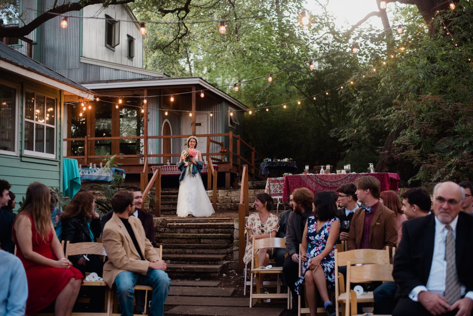 non traditional wedding at the sanctuary event space in Austin Texas