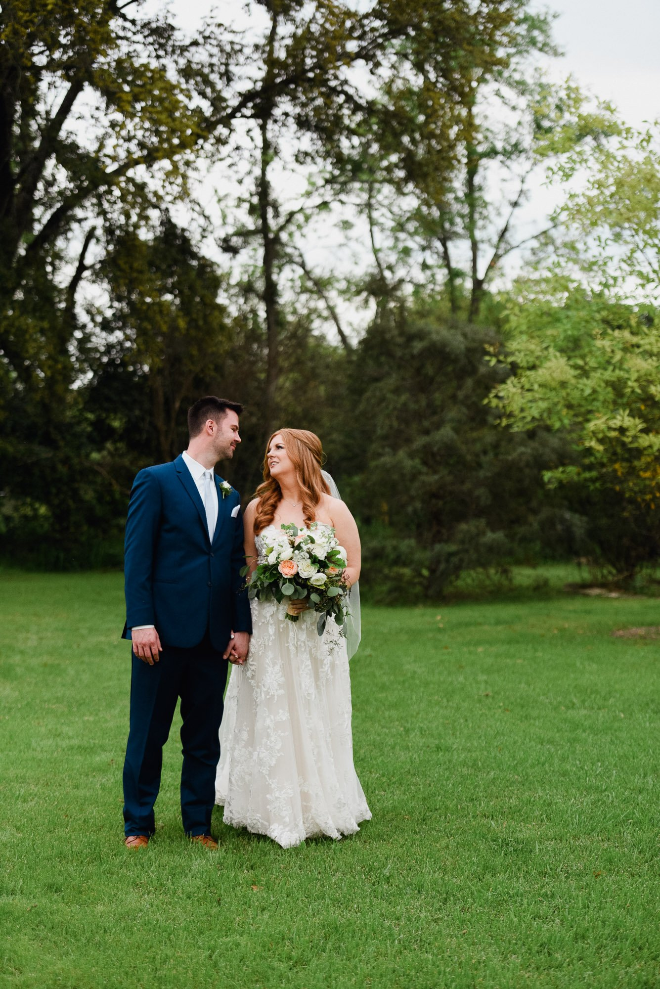 spring wedding at the barr mansion in austin texas