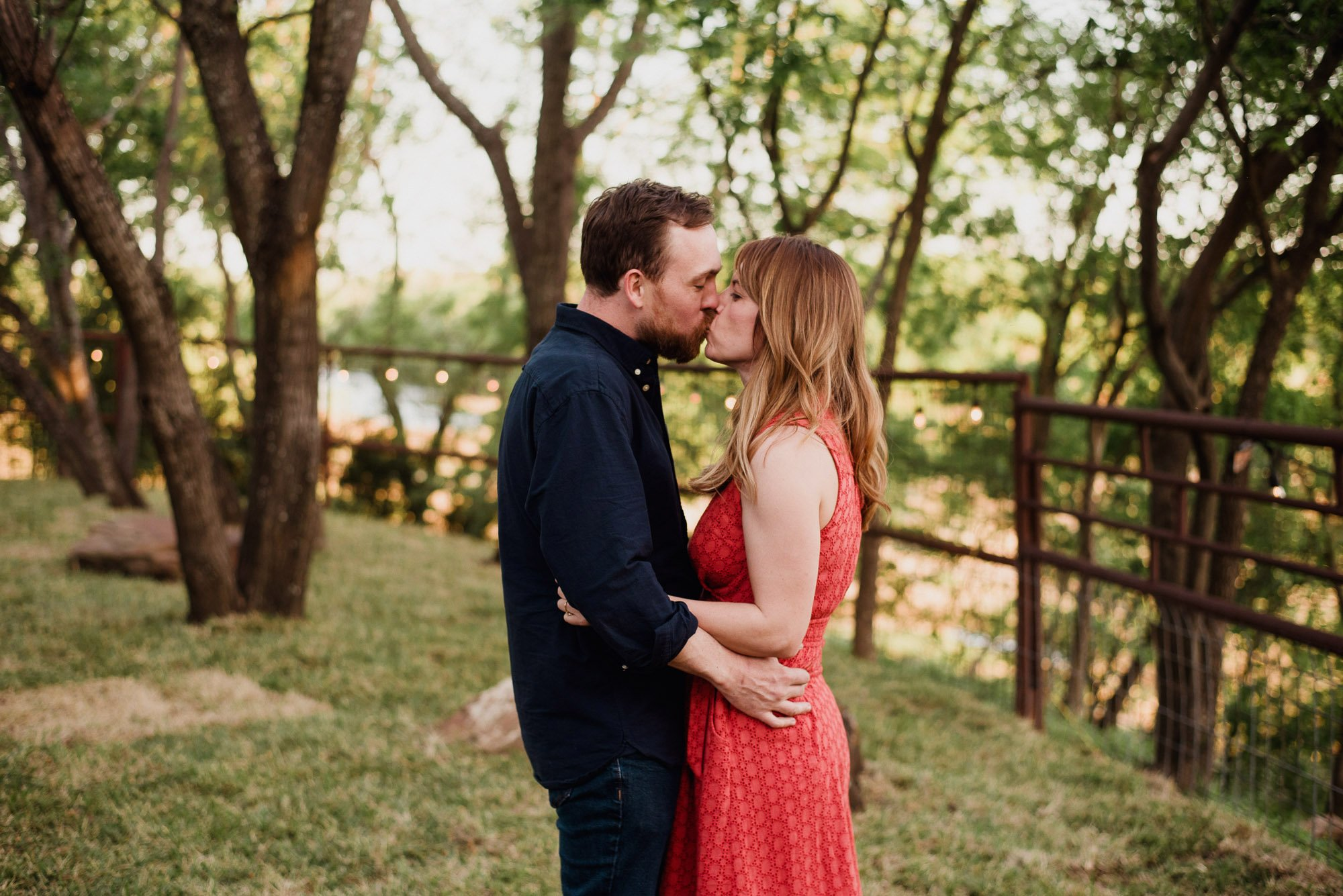 engagement session on the patio at jacoby's austin