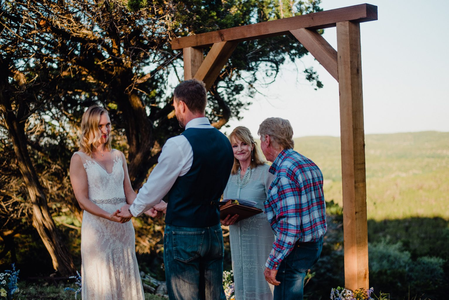 private ranch wedding ceremony