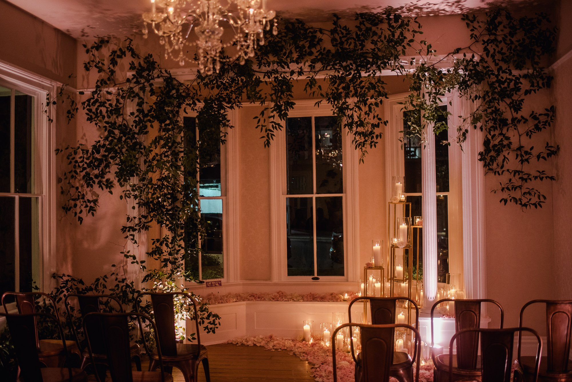 allan house interior night wedding