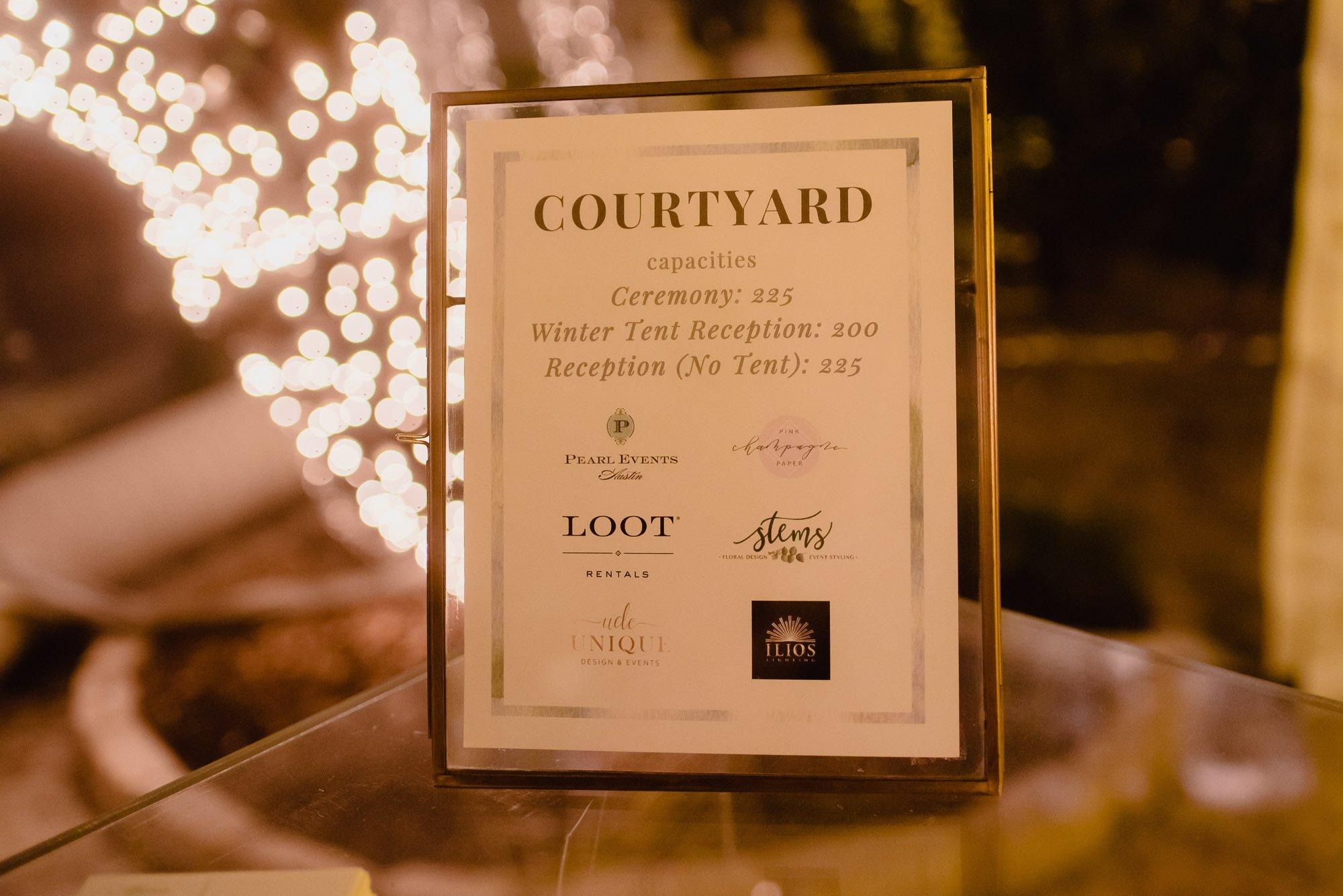 allan house courtyard tented photos