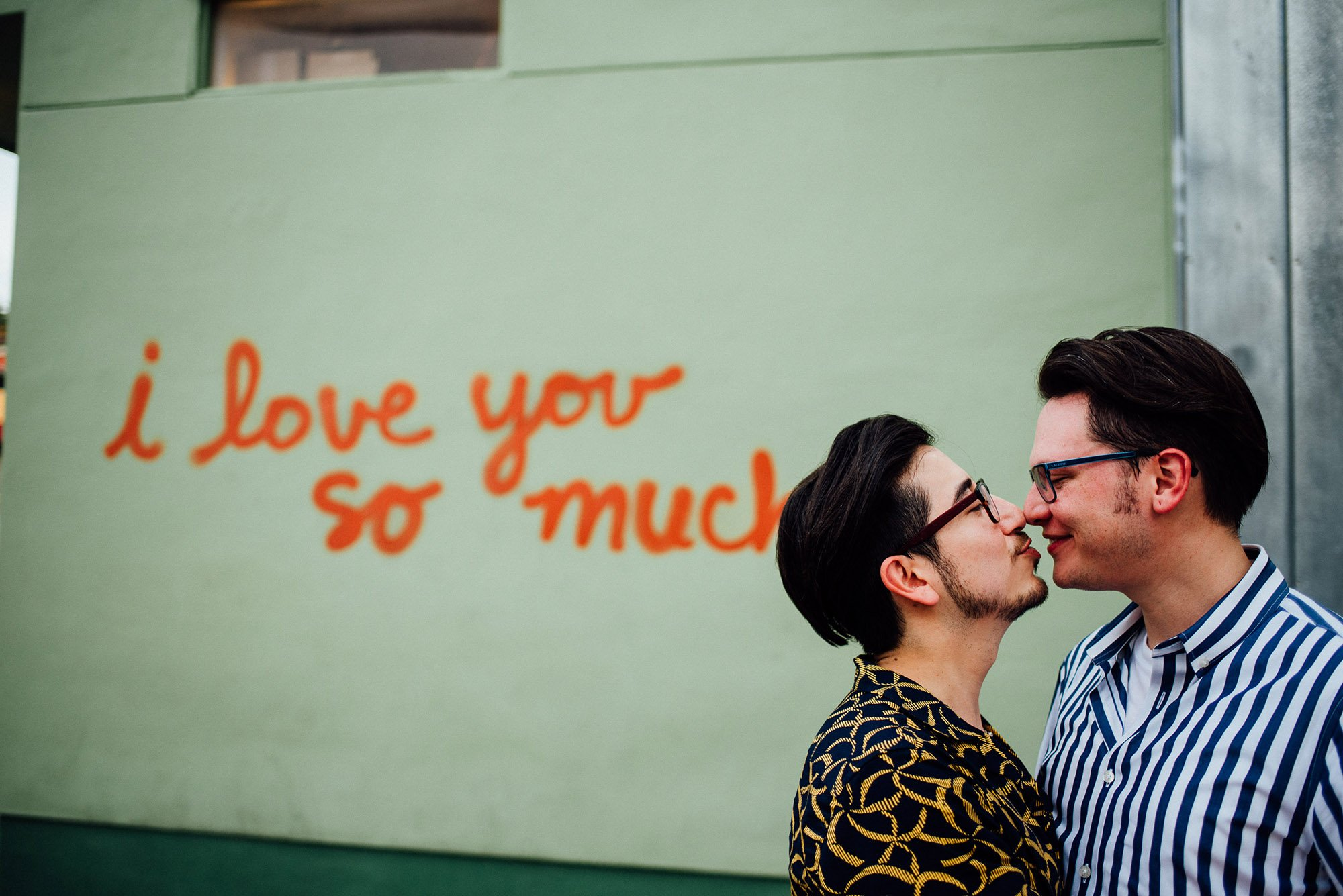 downtown austin same sex engagement session