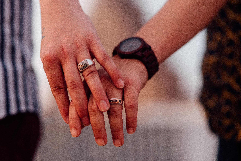 same sex engagement ring details
