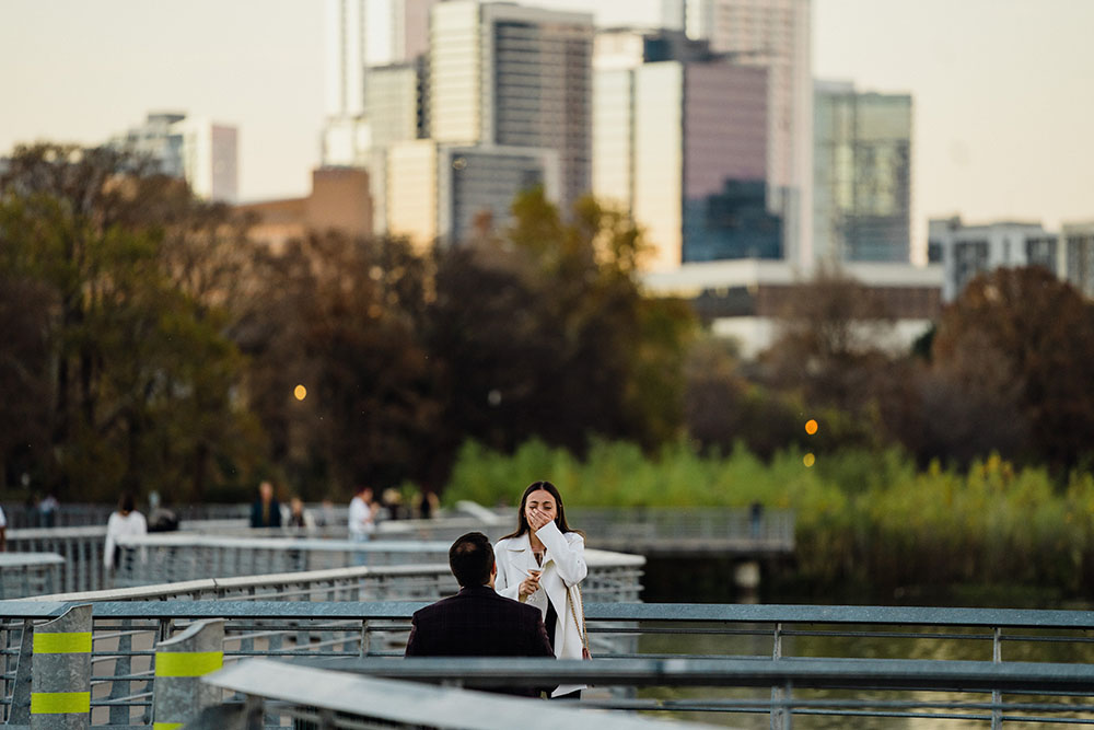 lady bird lake proposal photographs, boardwalk proposal photographer