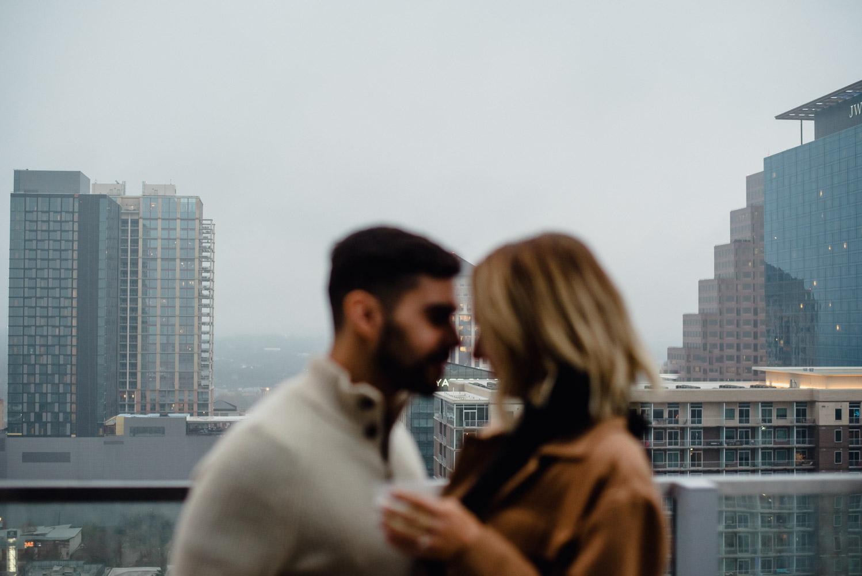 rainy proposal pictures, austin proposal photographer