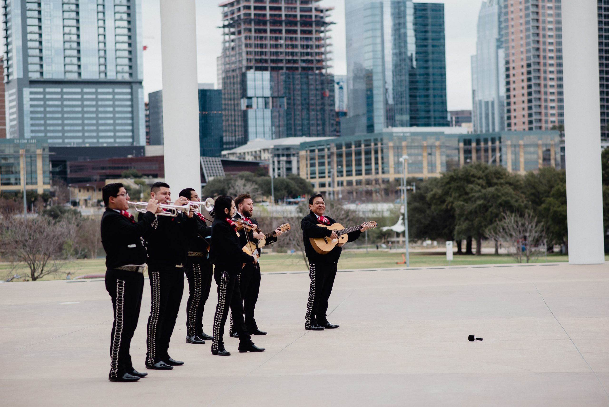Compadre's Mariachi plays for an Austin skyline proposal