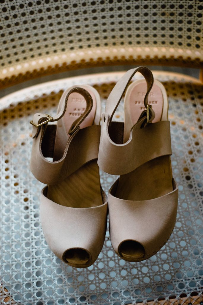 bryr clogs, wedding shoe details, wedding clogs, austin wedding shoes