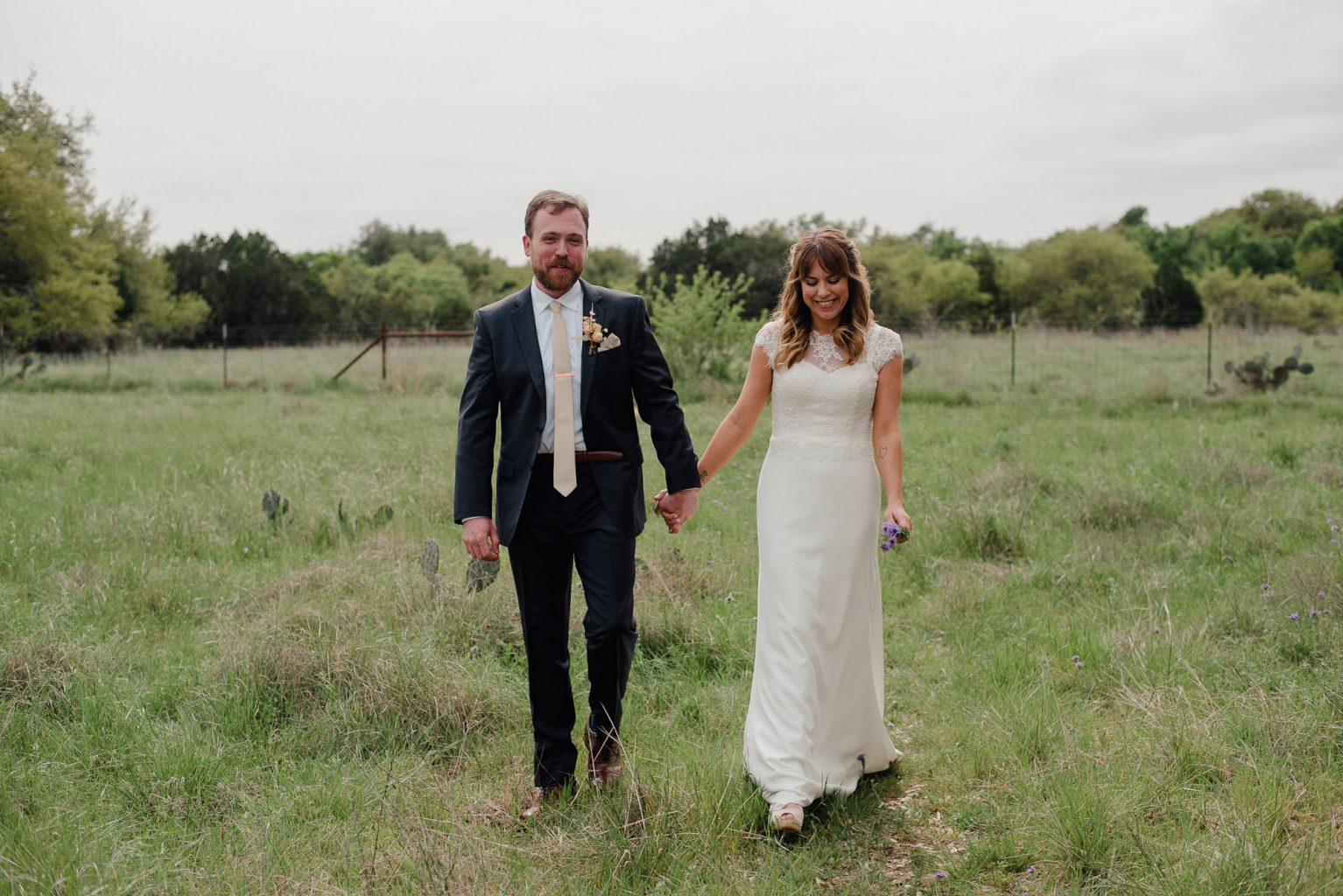 bride and groom portraits at the plant at kyle, west texas inspired wedding